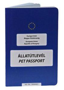 A kutyák, macskák és vadászgörények az Európai Unió tagállamaiba kizárólag egységes európai állatútlevéllel, mikrochipes-megjelöléssel és érvényes veszettség elleni védőoltással utazhatnak be.