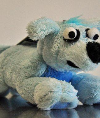 ROGZ kék kutyus, plüssjáték kutyáknak